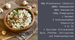 Pilzrisotto - gesundes Abendessen zum abnehmen
